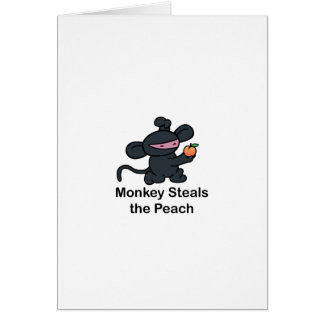 Monkey Steals the Peach Greeting Card