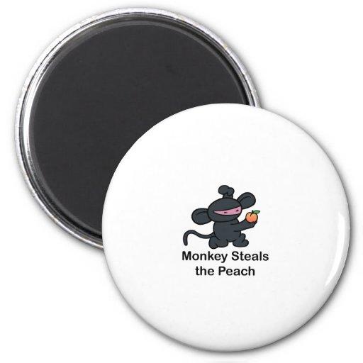 Monkey Steals the Peach Magnet