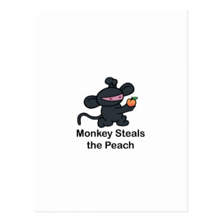Monkey Steals the Peach Postcard