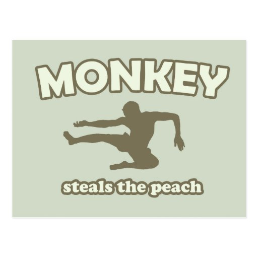 Monkey Steals the Peach Postcards