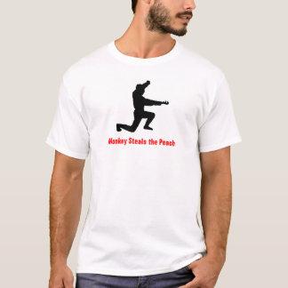 Monkey Steals the Peach, Smaller Print T-Shirt