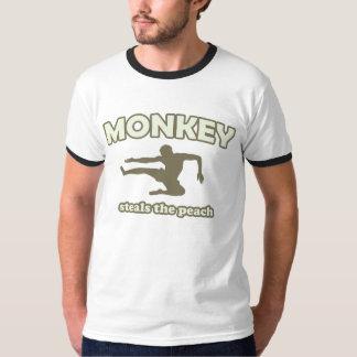Monkey Steals the Peach T-shirts