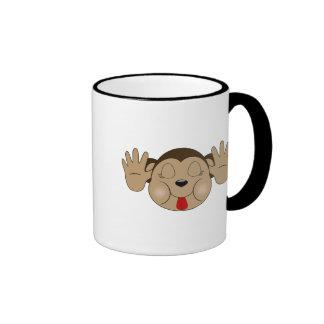 Monkey Sticking Out Tongue Coffee Mugs