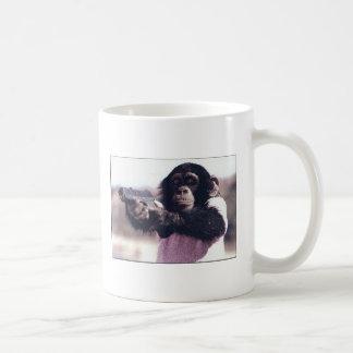 Monkey stickup basic white mug