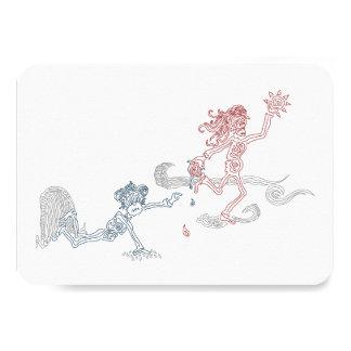 monkey sun snatcher 9 cm x 13 cm invitation card
