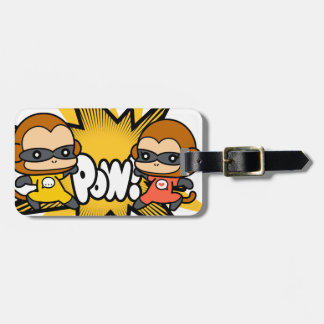 Monkey Superheroes Luggage Tag