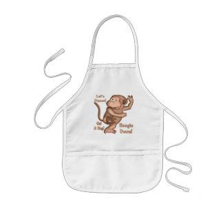 Monkey Tee Shirts and Monkey Gifts Kids' Apron