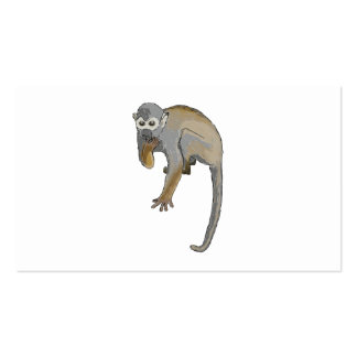 Monkey that is Eating. Pack Of Standard Business Cards