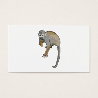 Monkey that is Eating. Business Card