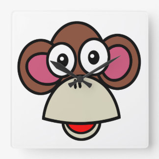 Monkey Time Square Wall Clock