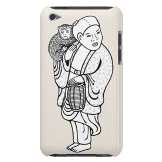 Monkey trainer netsuke iPod Case-Mate cases