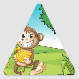 Monkey Triangle Sticker
