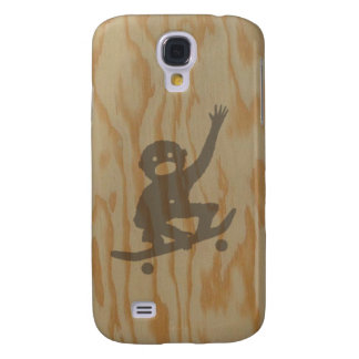 Monkey tricks illustration on plywood galaxy s4 case