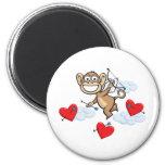 Monkey Valentine 6 Cm Round Magnet