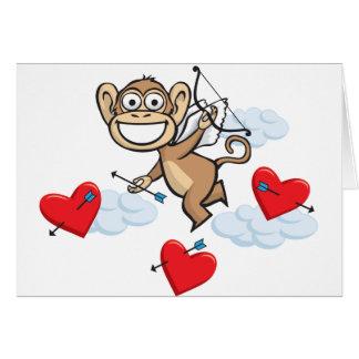 Monkey Valentine Card