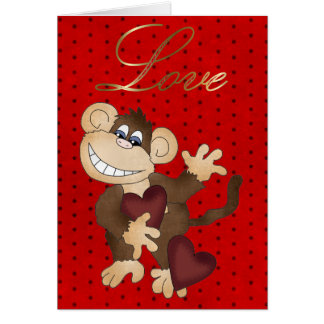 Monkey Valentine card