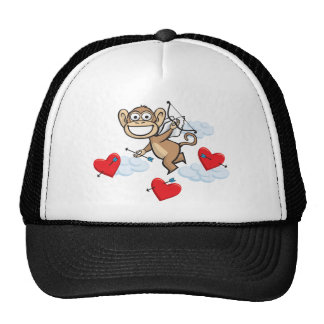 Monkey Valentine Trucker Hat