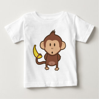 Monkey w/ Banana Baby T-Shirt