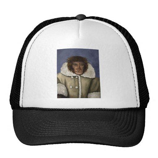 Monkey Wearing Jacket Mesh Hat
