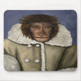 Monkey Wearing Jacket Mousepads