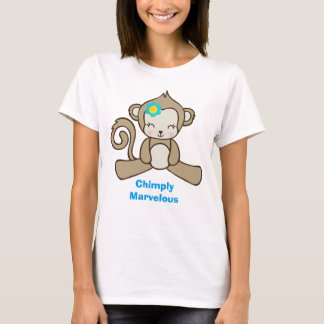 Monkey with a Flower Says Chimply Marvelous T-Shirt