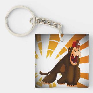 Monkey with Bomb Keychain