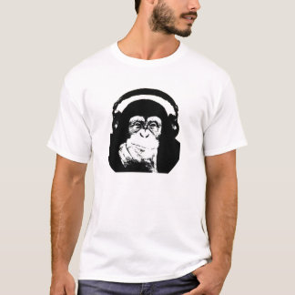 Monkey with Headphones T-Shirt