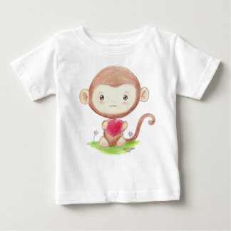 Monkey with Heart Infant Shirt