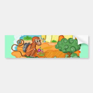 Monkey With Long Tail kids bumper sticker