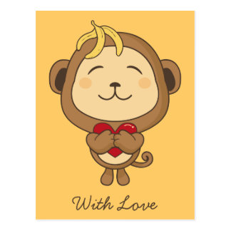 Monkey with love Postcard