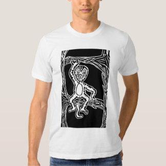 monkey woodprint t shirt