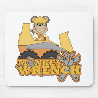 Monkey Wrench Bulldozer T-shirts and Gifts Mouse Pad