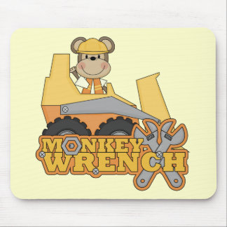 Monkey Wrench Bulldozer Tshirts and gifts Mouse Pad