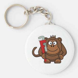 Monkey Wrench Cartoon Keychain