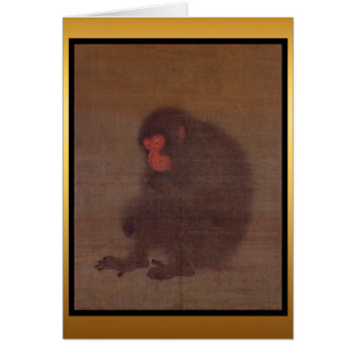 Monkey Year Chinese Painting Greeting Card