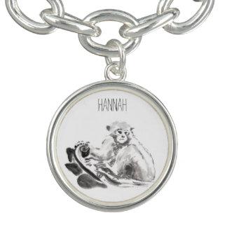 Monkey Year Chinese Zodiac Custom Charm Bracelet