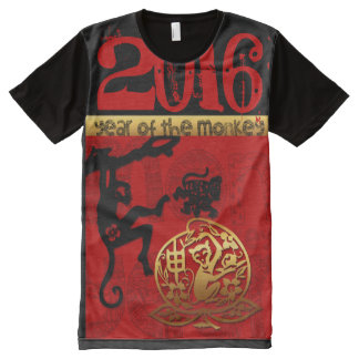 Monkey Year custom 2016 Chinese Zodiac All-Over Print T-Shirt