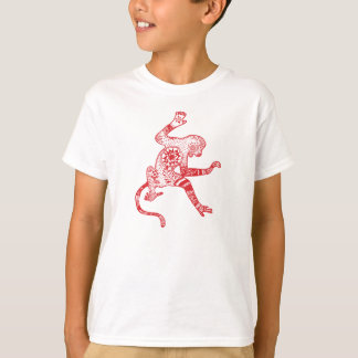Monkey Yoga Kids' Basic T-Shirt, White T-Shirt