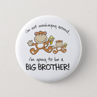 monkeying around 6 cm round badge