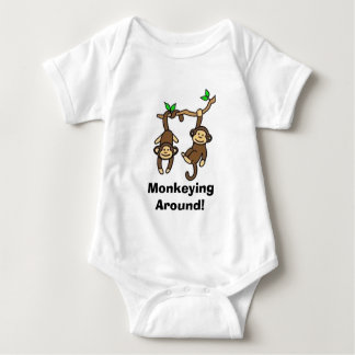 Monkeying  Around! Baby Bodysuit