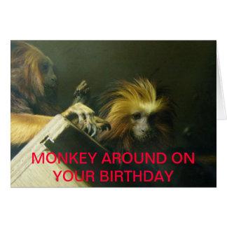 Monkeying around card