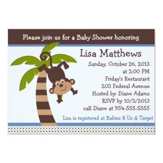 Monkeying Around/Monkey Baby Shower Invitation