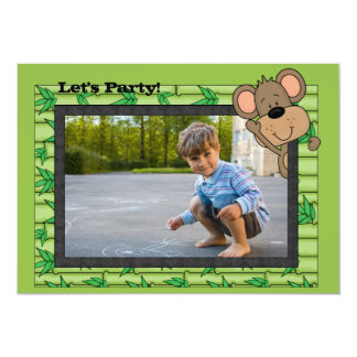Monkeying Around Photo Invitation