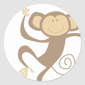 Monkeying Around Round Stickers