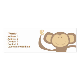 Monkeying Around Skinny Profile Cards Pack Of Skinny Business Cards