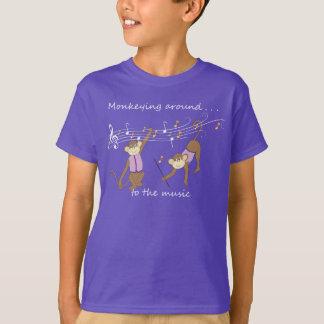 Monkeying Around to the Music Purple Kids' T-Shirt