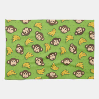 Monkeys and bananas tea towel