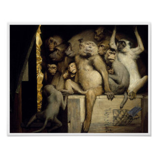 Monkeys as Art Critics Poster