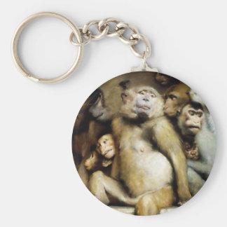 Monkeys as Judges of Art (Detail) Key Ring