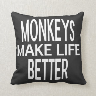 Monkeys Better Pillow - Assorted Styles & Colors